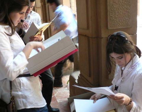 Jóvenes en el Parlamento Científico.